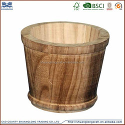 2015 China supplier FSC wholesale wooden bucket for sale