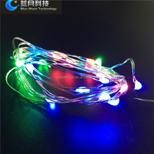 CR2032 operated copper wire high bright 30cm cable light up christmas socks
