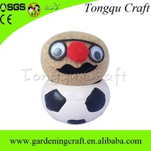 Logo Design profissional cabeça grama boneca artesanato cerâmica pintura mentes de arte artesanato