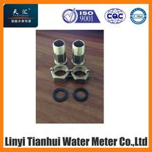 water meter fittings, water meter connectors, brass parts