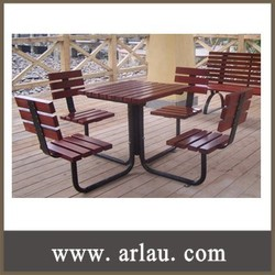 (TB-037) Wood Outdoor Table Chair