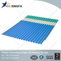 Color coated corrugated plastic pvc roof tile