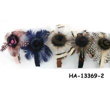 Artificial fur hair barrettes