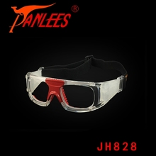Panlees OEM unisex foldable silicone gel prescription transparent for basketball drible sport safety goggles optical glasses