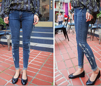 592 new women's denim trousers stretch jeans Jeans for women lady girl