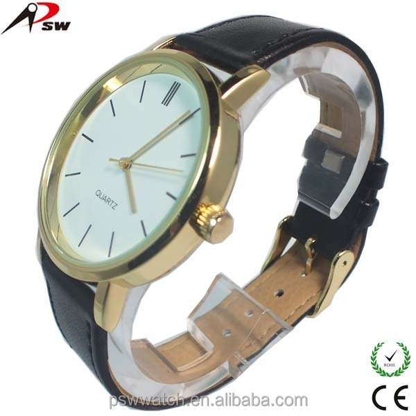 2015 alibaba express genuine leather watch wristwatch for men