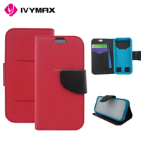 Wholesale leather smartphone covers, rugged pu flip and stander wallet case