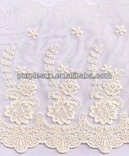 De malla de nylon bordado suizo de encaje- rosa patrón