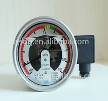 Gold-plated contacts OEM factory price SF6 natural SF6 gas manometer stainless steel density monitor export to Middle East