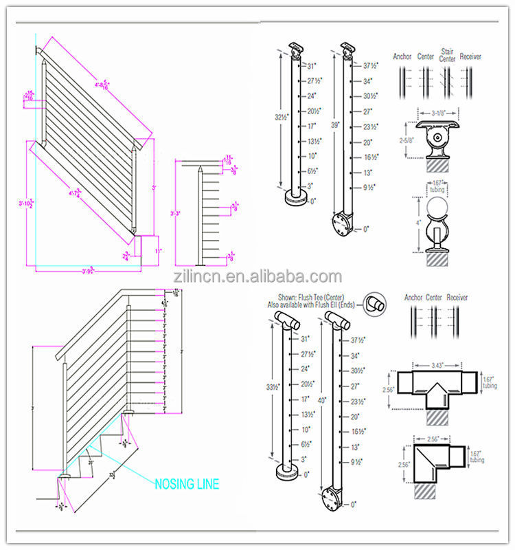 Wire/cable Stainless Steel Stair Railing,Indoor Stair Railings - Buy ...