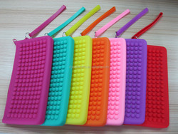 Silicone bean colorful zipper purse bag, fashion hot sell monery silicone wallet