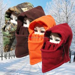 Autumn Winter Outdoor Warm Anti Wind Fleece Cap