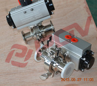 anti-explosion clamp sanitary pneumatic 90 degree ball valve