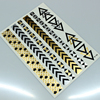 Fashion Mixed Gold And Sliver Temporary Metallic Body Tattoo Sticker