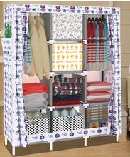 Plegable moderna pequeño armario no tejido dormitorio armario armario ropero
