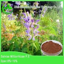 GMP factory hot sale top quality 100% pure organic Dan shen root extract powder