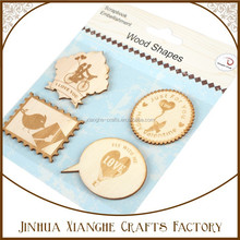 mini natural wooden cut out