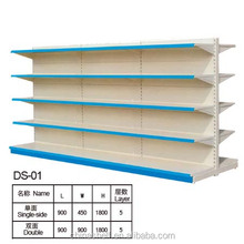 Advertising display Supermarket Shelf with double