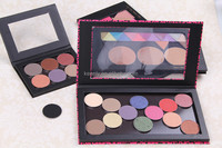 OEM matte chinese red eye shadow professional cosmetics mineral refillable eye shadow with sticker for sale