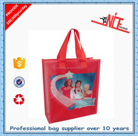 Best sale Alibaba China Supplier Fashion Pvc coated cotton shopping bag /tote bag NSB-079