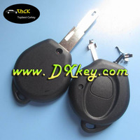 1 button key blanks wholesale with 206 key blade and battery holder WITHOUT LOGO for Peugeot key shell car key case shell