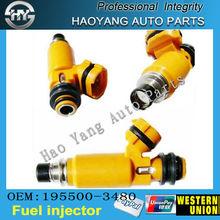 Oem#( 195500- 3480) yang hao automático de suministro de piezas de gnc inyector de combustible para mazda