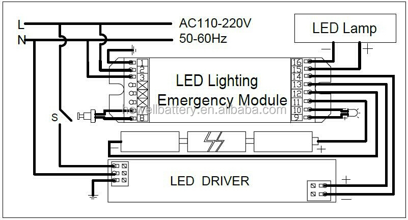central emergency lighting inverter wiring diagram