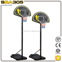 height adjustable portable adult basketball goal