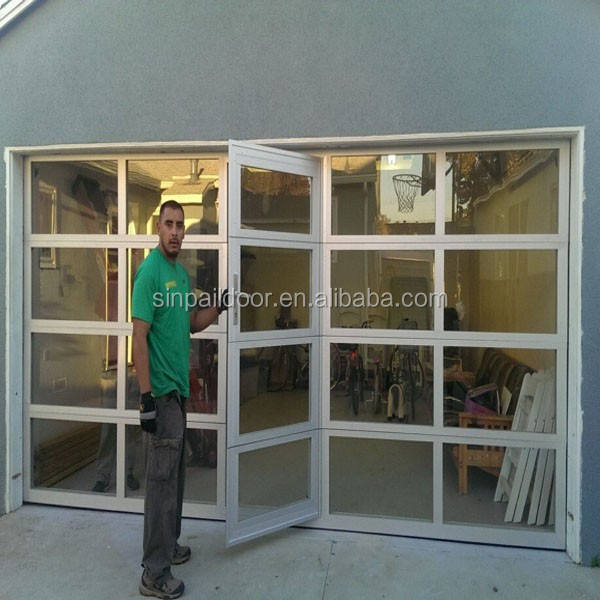 16x8 stable elegant insulation aluminum frame glass clear for 16x8 garage door prices