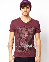 2014 Manhattan new york city printed man's fashion street high quality casual t shirt wholesaler in china model-sc125