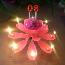 Multi-Colored Color and Yes,yes Handmade Number sparkling flower music birthday cake candle +0086-15032098633