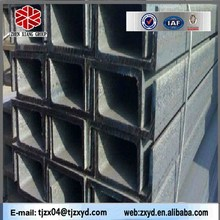 hot rolled carbon mild steel u channel sizes