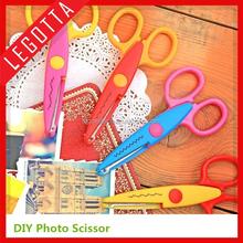 Cheapest kids scissors for DIY photo album handmade, 6 patterns laciness scissors latest gift items
