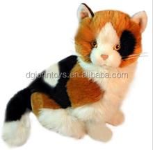 Stuffed animal cat plush stuffed dongguan factory