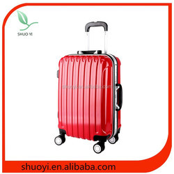 ABS+PC travel luggage/colorful luggage/abs printed hard shell luggage in baoding