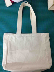 high quality recyclable shopping cotton bag, tote bag canvas, cotton canvas tote bag with long webbing handles