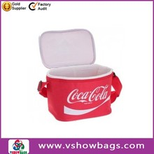 Cocacola oxford Cooler Bag with screen printing,can storage 6cans,suitable for outside use.