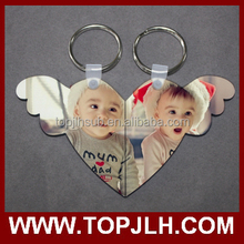 2015 beautiful sublimation key chain for couples gift