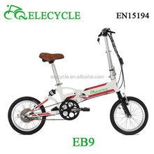 36v 250w motore brushless bicicletta elettrica pieghevole con CE/en15194