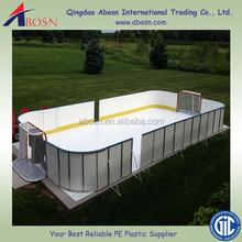 anti-abrasion skating sheet/competitive price hdpe dasher board/ice hockey