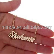 Wholesale 14 inch Rose Gold Alphabet English Letters Charm For Diy Necklace, Personalized Name Necklace - Custom Made Free Name