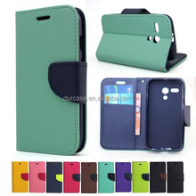 Fashion Book Style Leather Wallet Cell Phone Case for LG E985/L-04E with Card Holder Design