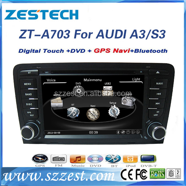 zestech car radio multimedia player for audi a3 autoradio gps for audi a3 s3 rs3. Black Bedroom Furniture Sets. Home Design Ideas
