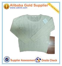 china supplier designs of woolen sweaters/round neck cable knit sweater