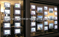 portable and beautiful Transparent colored acrylic material hanging displayed acrylic display case
