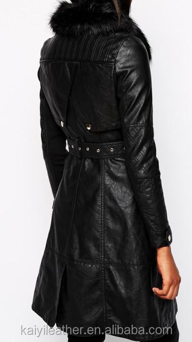 Veste faux cuir pour femme