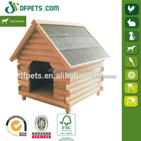 DFPets DFD006 Wooden Weather Proof Outdoor Dog Kennel