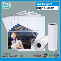 premium factory price bulk A4 115gsm waterproof high glossy luster silk photo printing photo paper with OEM srvices