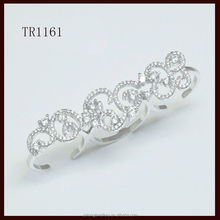 Latest design silver hollow out Ring for 3 fingers for women