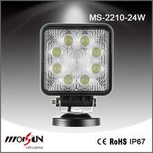 "4x4 accessory 4.3"" 24w led work lights 12v automobile lamp head lamp automobile"